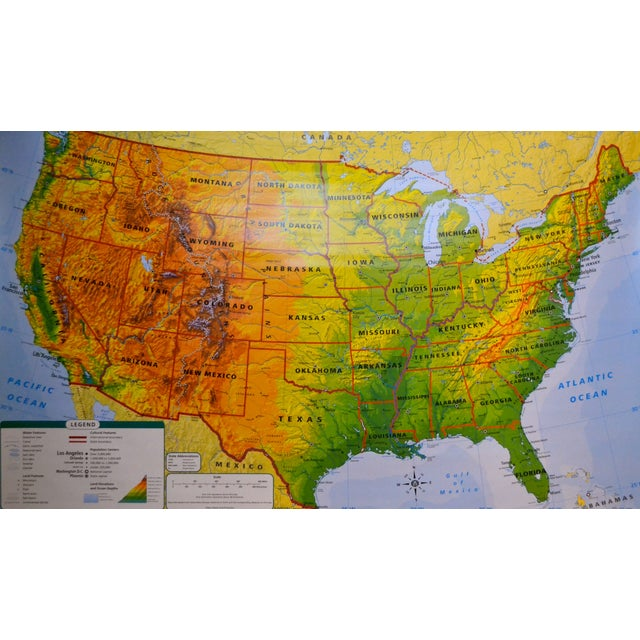 Hanging Classroom Map of USA - Image 3 of 8