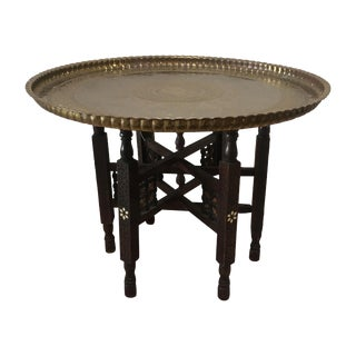 Vintage Moroccan Tray Table