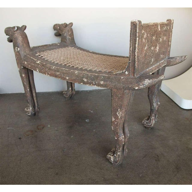 Egyptian Revival Bench - Image 4 of 9
