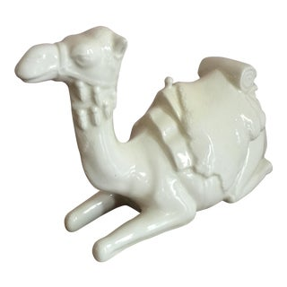 White Ceramic Camel Statue