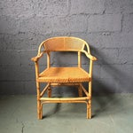 Image of Bamboo and Cane Dining Chairs - Set of 4