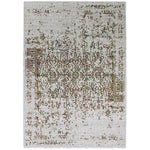 Image of Contemporary Orange & Green Distressed Rug - 8' x 10'7''