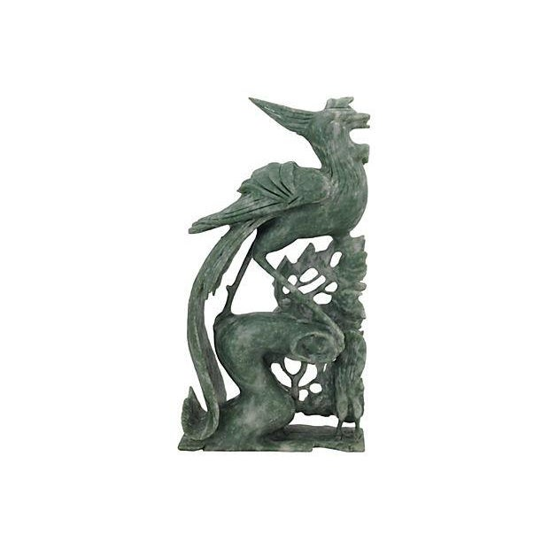 Image of Chinoiserie Jade Birds Carving