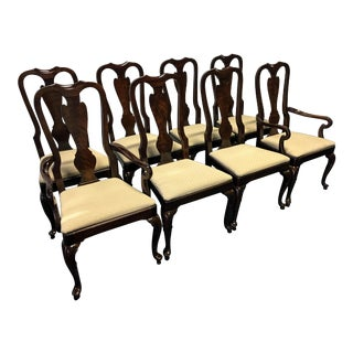 Drexel Heritage Heirloom Mahogany Queen Anne Dining Chairs - Set of 8