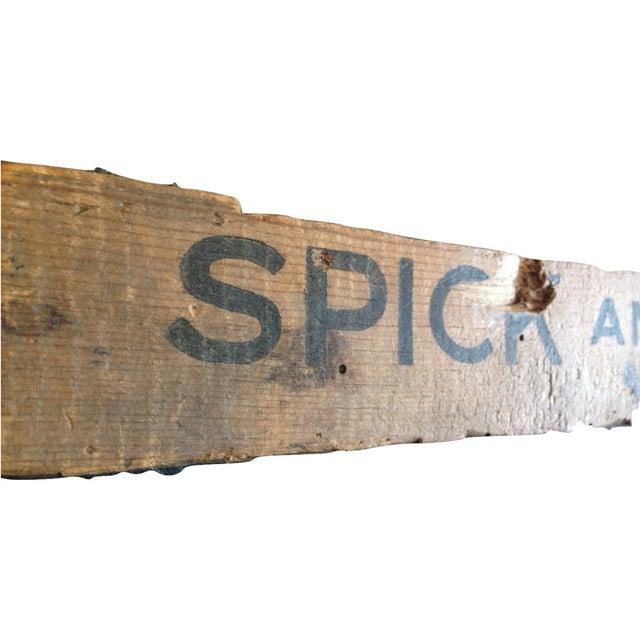 Image of Antique Wooden Spick & Span Art Crate Sign
