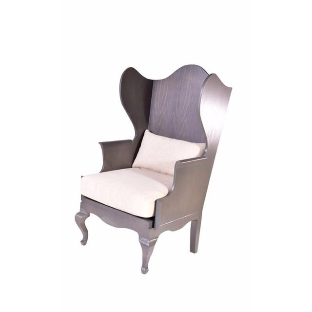 Wood Wingback Chair - Image 1 of 6
