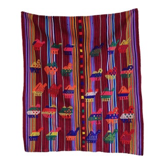Vintage Embroidered Guatemalan Tapestry