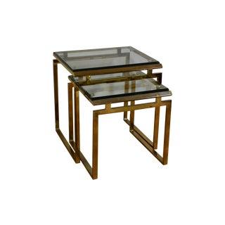 Milo Baughman Style Nesting Tables - A Pair