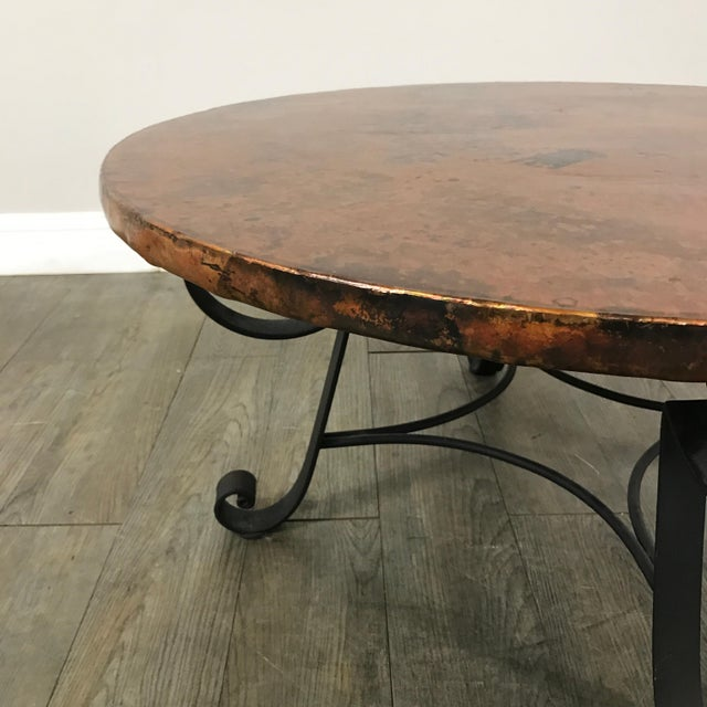 Black Copper Coffee Table: Arhaus Copper-Top Coffee Table