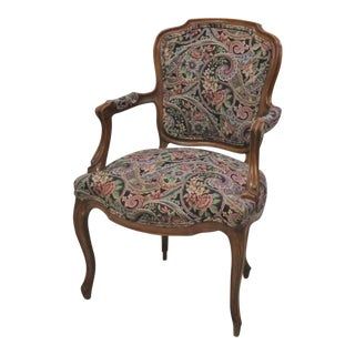 Louis XV Style Carved Walnut Armchair