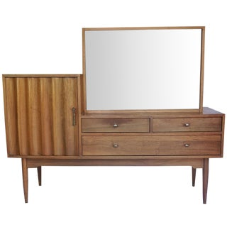 Mid-Century Modern Sideboard with Cocktail Cabinet