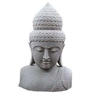 Volcanic Stone Buddha Bust
