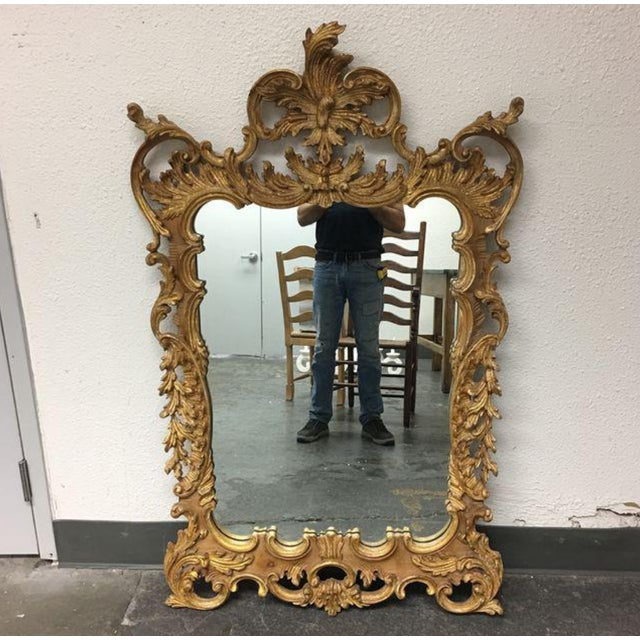 La Barge Baroque Gold Leafed Wall Mirror - Image 2 of 9