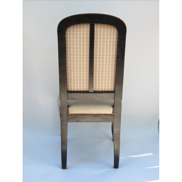 Cream Leather Spanish-Style Chairs - A Pair - Image 6 of 11
