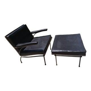 Mid-Century Russel Woodard Lounge Chair & Ottoman