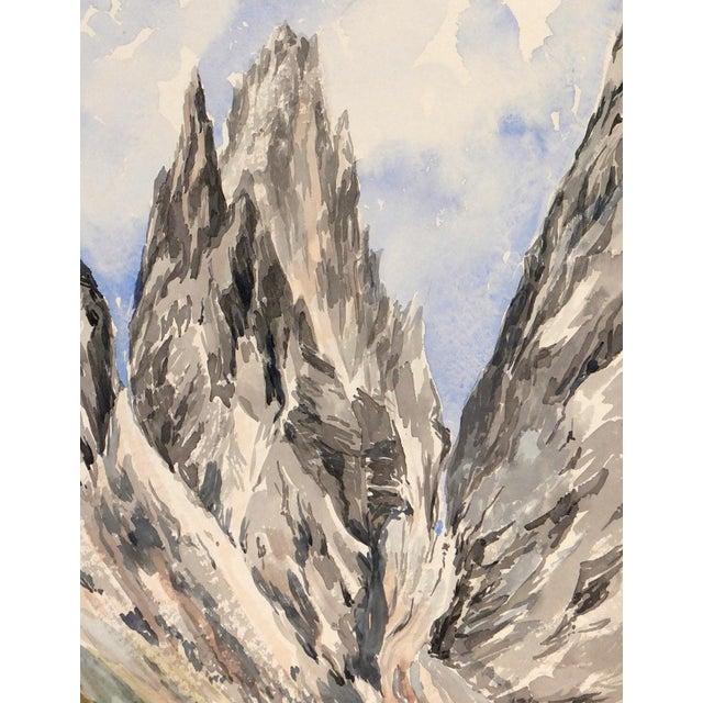 Image of Mid-Century 1958 Monte Castelleto Italy Painting