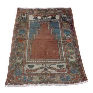 Turkish Handmade Decorative Wool Oushak Rug - 2′8″ × 4′