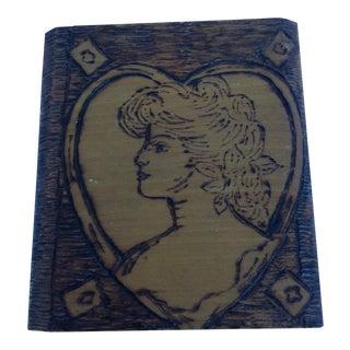 Victorian Lady Tramp Art Box