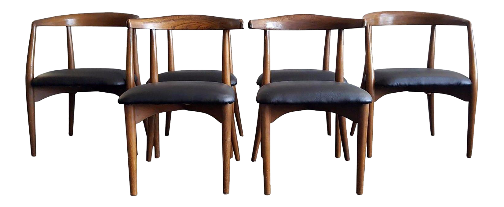 Mid Century Modern Lawrence Peabody Sculptural Dining Chairs   Set Of 6