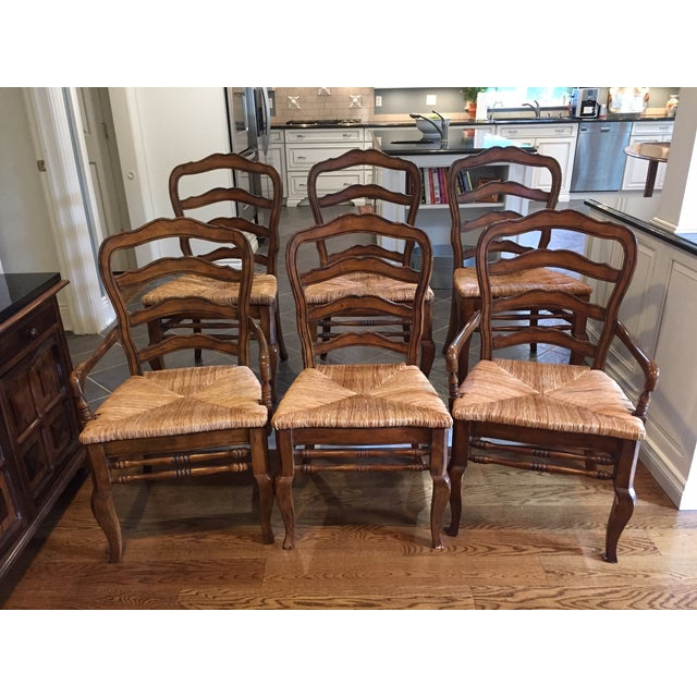 Hooker Furniture Ladder Back Chairs - Set of 6 - Image 2 of 11