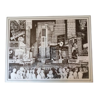 Signed Times Square Lithograph