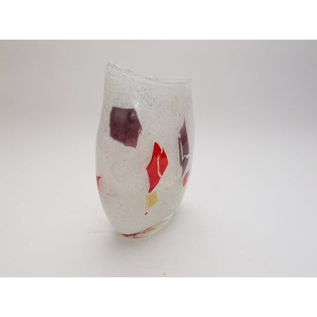 Murano Hand Blown Art Glass Vase - Image 2 of 4