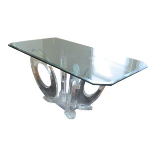 Mikhail Loznikov Mid-Century Modern Style Sculpted Lucite Ribbon Dining Table