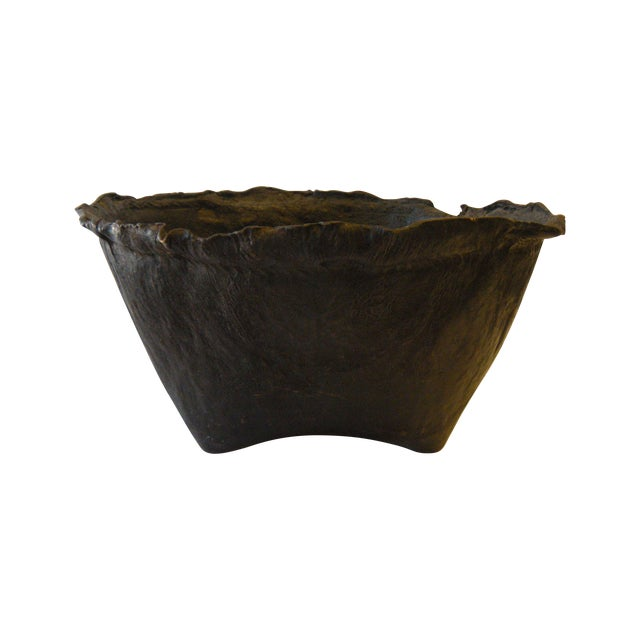 Lombock Island Leather Grainery Vessel - Image 1 of 3
