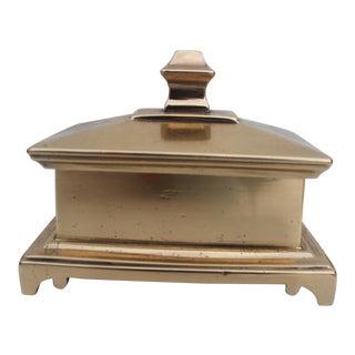 Vintage Hollywood Regency Solid Brass Jewelry Box.