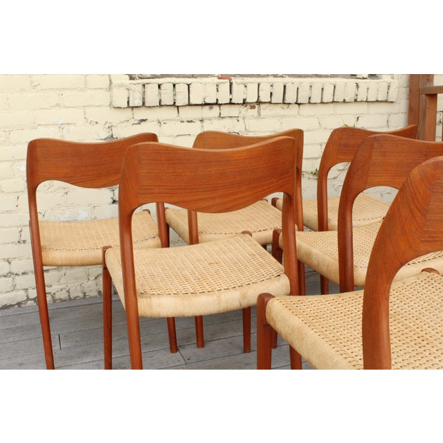 Moller Model 71 Teak Dining Chairs - Set of 6 - Image 8 of 11