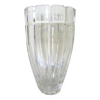 Vintage Deco Cut Crystal Vase