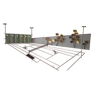 C. Jere Tennis Court Wall Art