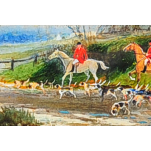 19th Century English Fox Hunt Oil Painting - Image 2 of 8