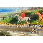 Image of 19th Century English Fox Hunt Oil Painting