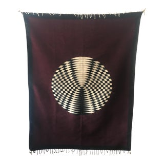 Hand Loomed Wool Geometric Tapestry