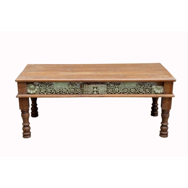 Verde Antique Architectural Panel Coffee Table - Image 6 of 7