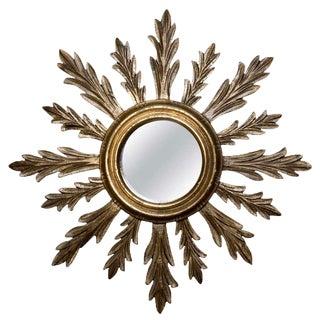 Mid-Century Sunburst Gilt Wood Mirror