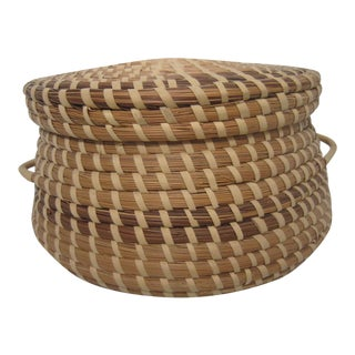 Vintage Pine Straw Basket