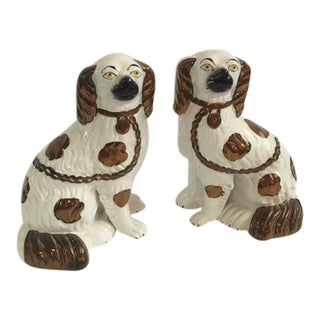 Staffordshire Dog Figurines - A Pair