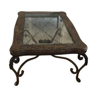 Leopard and Glass Coffee Table