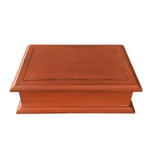 Mid-Century Orange Jewelry Box
