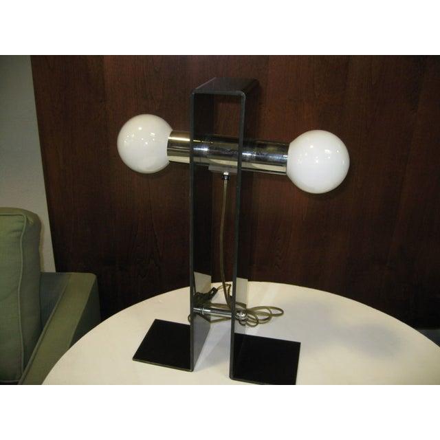 Italian Fume Acrylic Lamp - Image 4 of 4