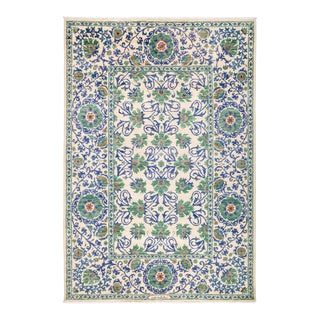"""Suzani Hand Knotted Area Rug - 6' 3"""" X 9' 1"""""""