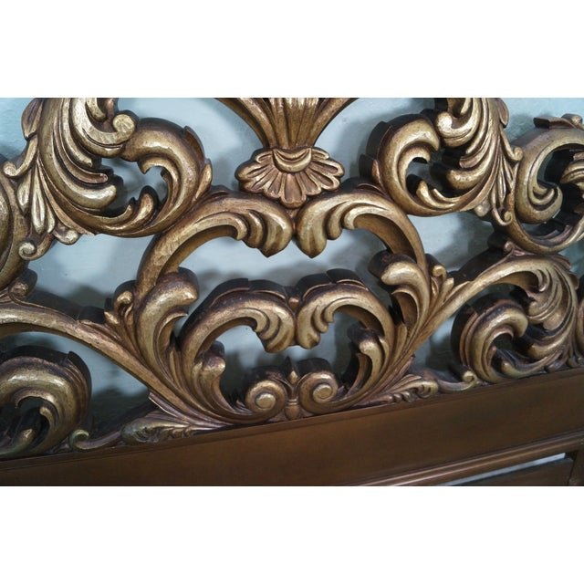Image of Ornate Rococo Gilt Carved King Size Headboard