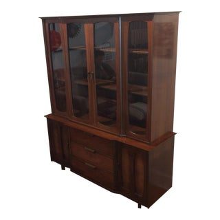 Mid-Century Modern China Cabinet by Stanley