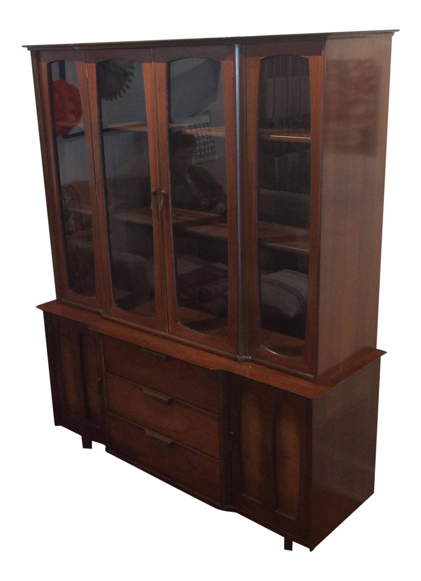 midcentury modern china cabinet by stanley