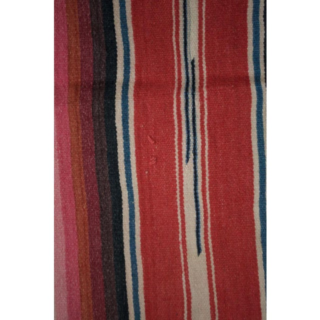 Vintage Mexican Saltillo Serape Blanket Throw - Image 7 of 8