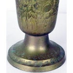 Image of Vintage Solid Brass & Patina Vase