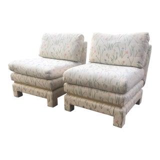 Mid-Century Modern Slipper Chairs - A Pair