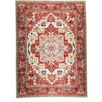 Image of Contemporary Traditional Red Hand-Knotted Rug 9' X 12'
